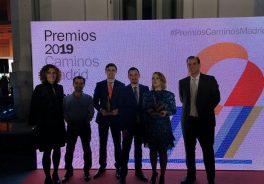 B.marquina Javier Arias Cesar Gutierrez Mario Arranz L Soler JL Abad recogen el Premio a la mejor obra muncipial
