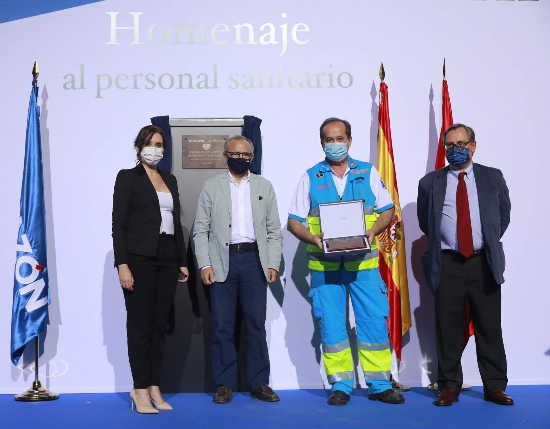 Awards healthcare workers La Razon Covid19
