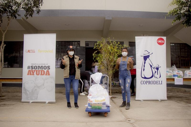 Ferrovial dona 140.000 euros a Ayuda en Acción Perú covid-19