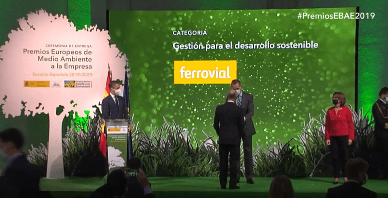 Ferrovial, Finalist in the European Commission's Business Awards for the Environment