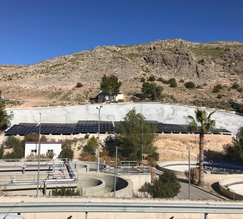 Cadagua EDAR fotovoltaica energia electrica Murcia Planta Tratamiento Aguas Residuales