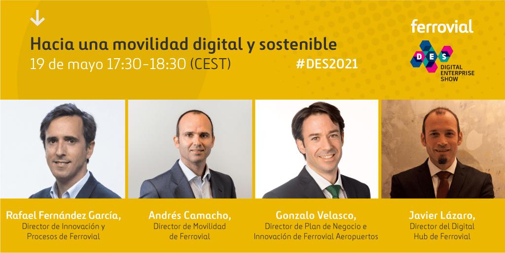 DES Evento Digital Enterprise Show 2021 Movilidad Urbana Nueva Digital Sostenible
