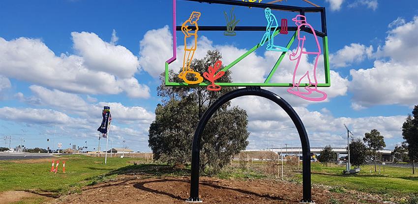 Western Roads Upgrade sculpture unveiled